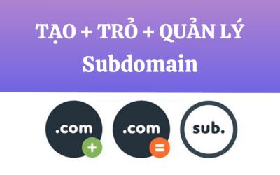 Hướng dẫn 3 bước tạo SubDomain trỏ về hosting và quản lý SubDomain