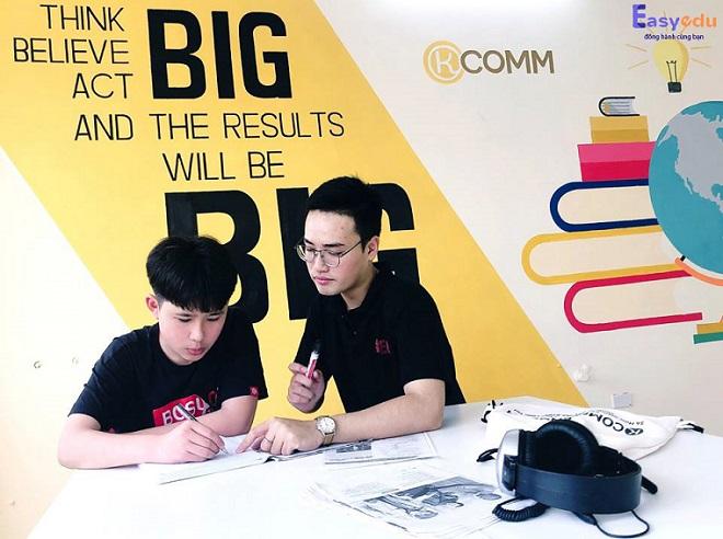 Trung tâm ngoại ngữ Kcomm English từng bước phát triển