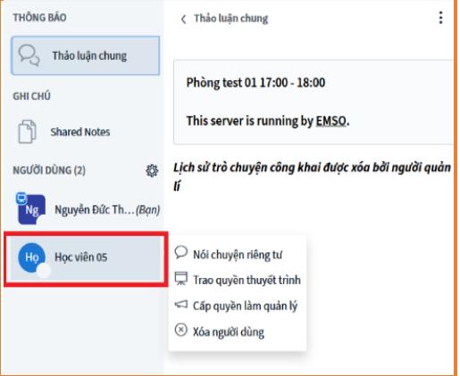 hướng dẫn sử dụng Stream Online trên phần mềm Easy Edu(5)