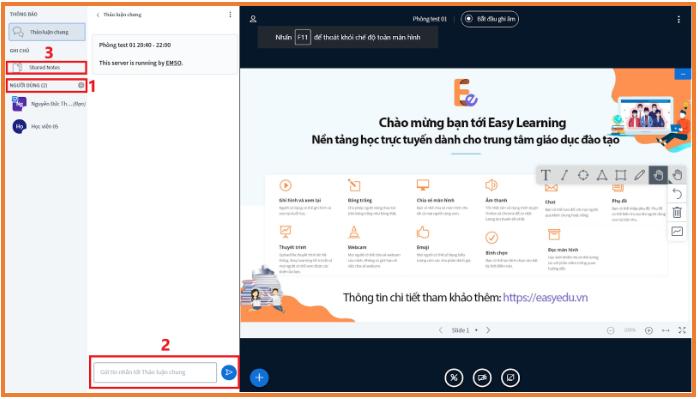 hướng dẫn sử dụng Stream Online trên phần mềm Easy Edu(2)