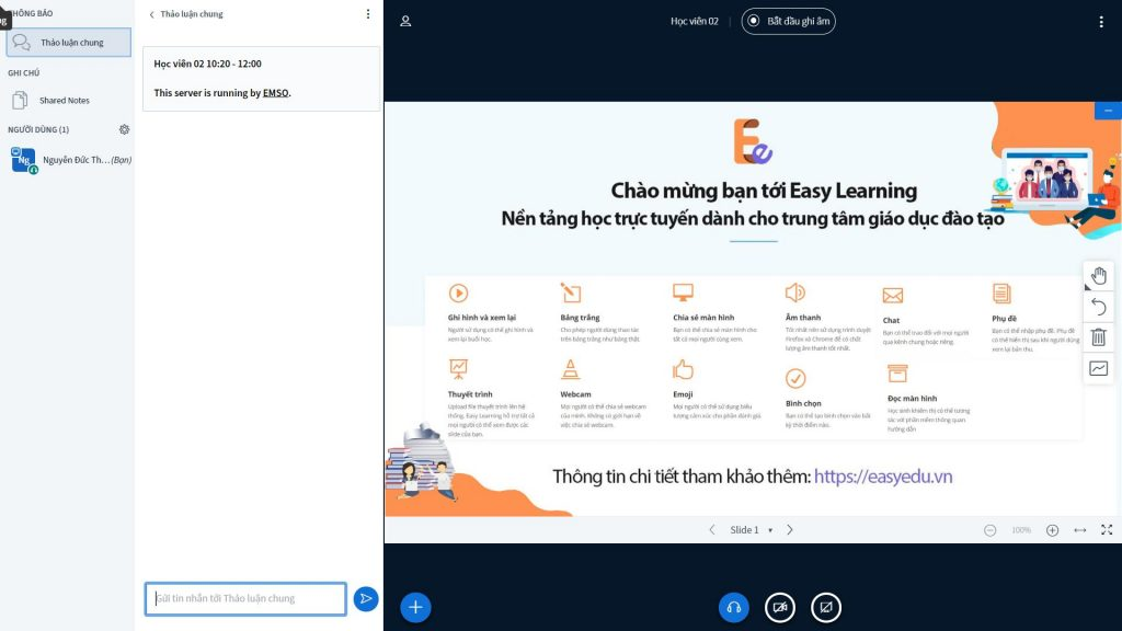 Phần mềm dạy học trực tuyến Easy Edu