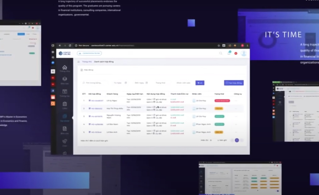 Phần mềm quản lý Trung tâm Tiếng anh Center Online