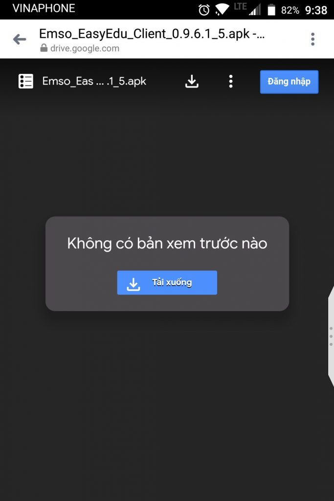 Hướng dẫn tải về ứng dụng phần mềm quản lý trung tâm ngoại ngữ Easy Edu bằng file APK về điện thoại