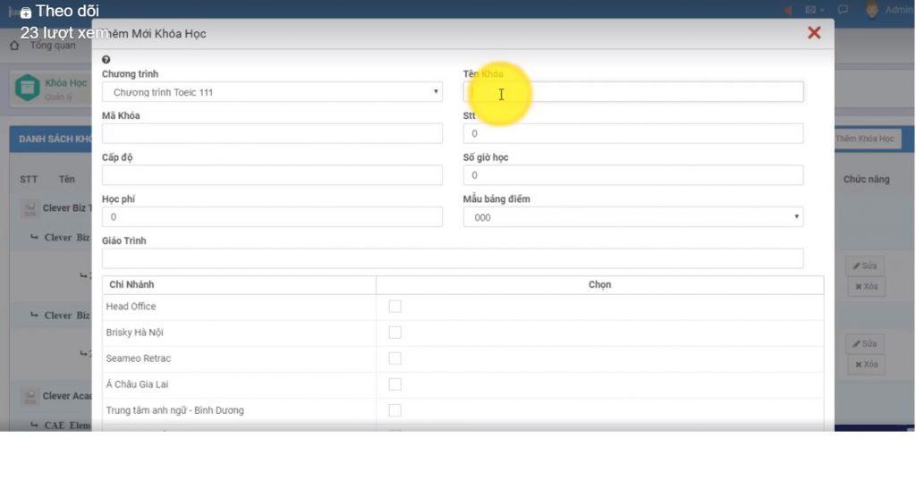 Phần mềm quản lý Trung tâm Anh ngữ  Ileader