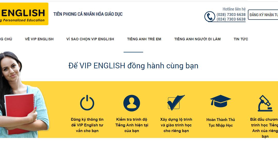 VIP English Center – Tiên phong cá nhân hóa giáo dục
