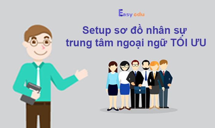 Hướng dẫn setup sơ đồ nhân sự trung tâm ngoại ngữ tối ưu